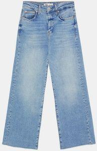 Zara High Waisted Wide Leg Jeans 27